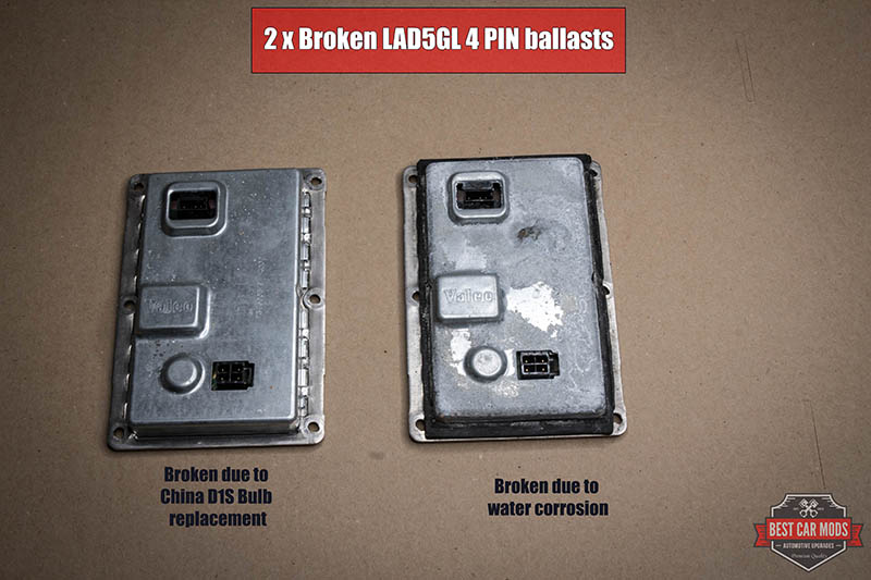 Broken Valeo LAD5GL 4PIN ballasts