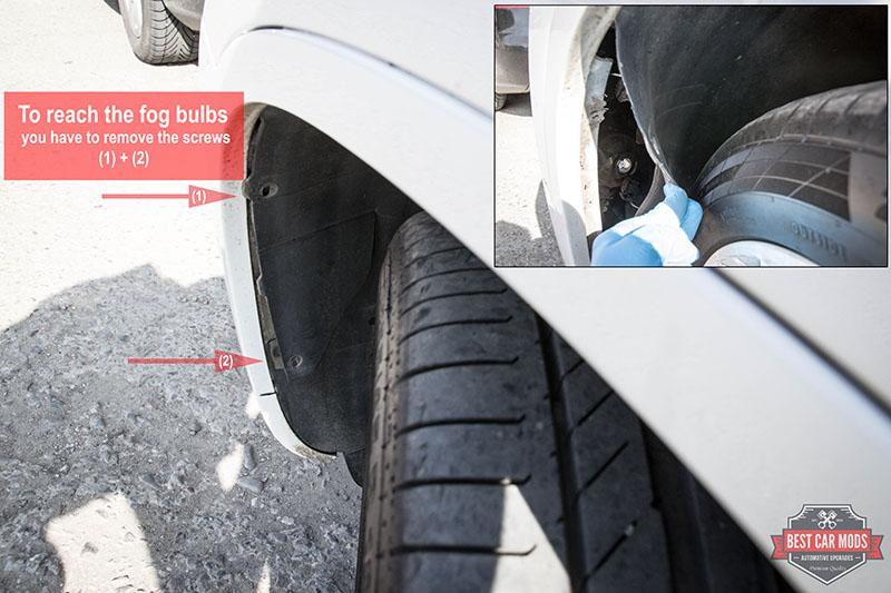 how to change fog light bulb for VW Tiguan