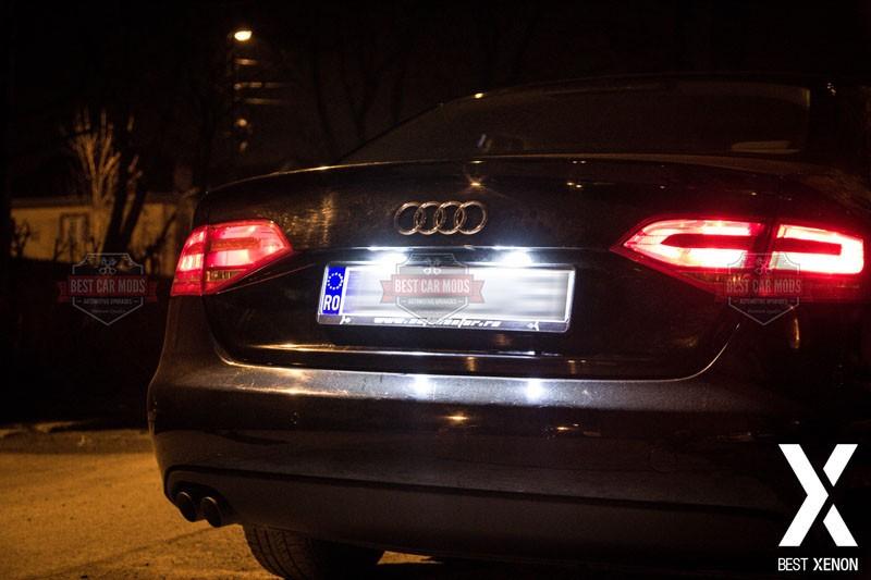 Lumina-Numar-Audi-A4-B8-ALB-LED-detaliu-2